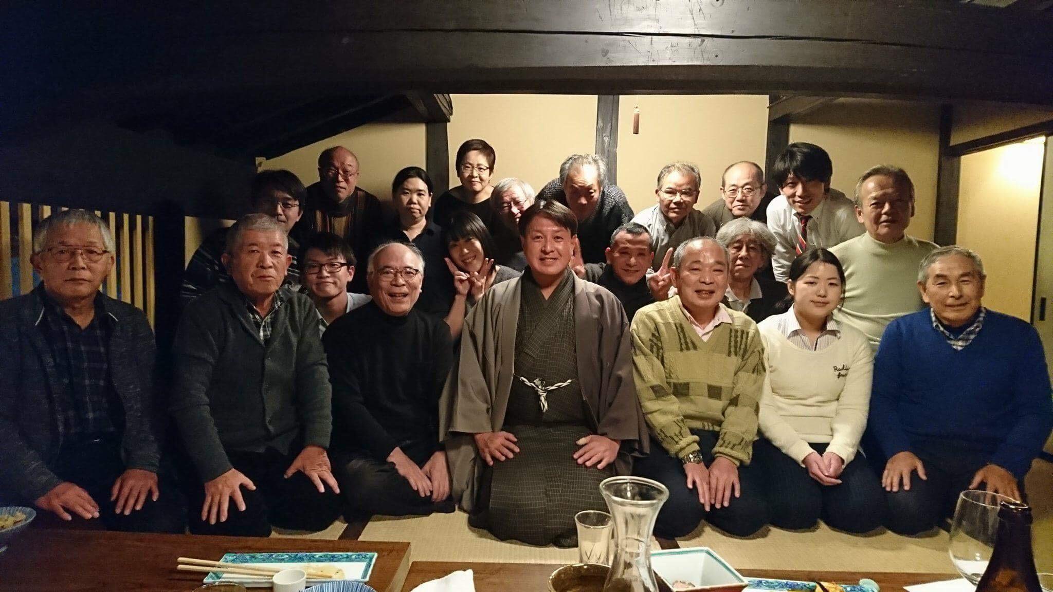2017年 藤井絞・職人さんとの忘年会