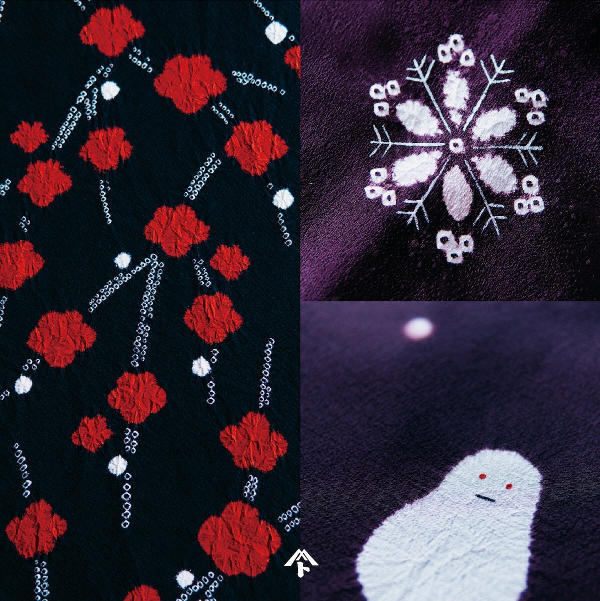 着尺「梅」コート「雪の華」コート「雪だるま」